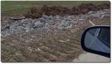 отсыпка временного дорожного покрытия ломом бетона и жби